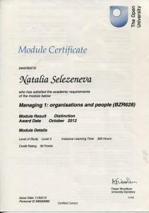 Сертификат менеджера Модуль 2